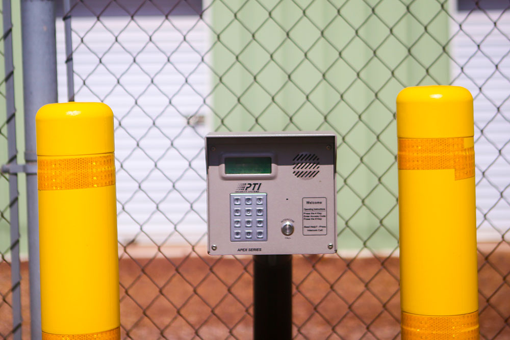 Alpine Storage in Show Low AZ, gate keypad