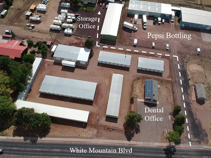 Alpine Storage Units and RV Parking near Show Low, Arizona.